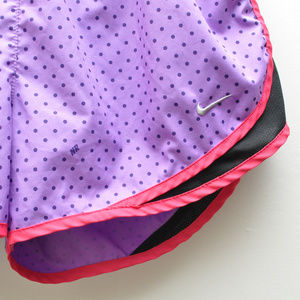 58c30540177 Nike Shorts - Nike Dri-Fit Purple Polka Dot Running Shorts Sz M
